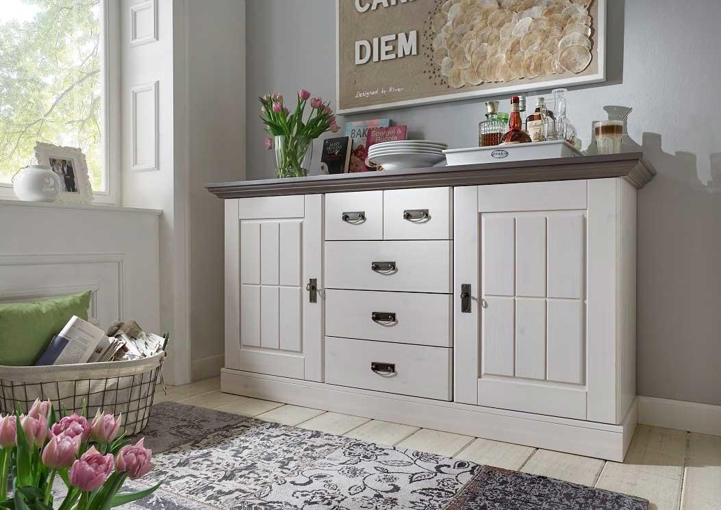 sideboard fjord landhausstil von jumek g nstig bestellen. Black Bedroom Furniture Sets. Home Design Ideas