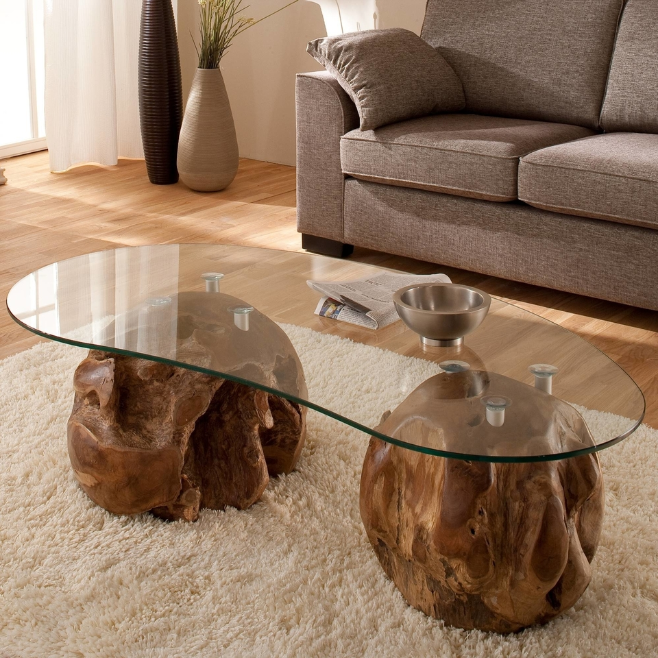 teakholz couchtisch mit nierenf rmiger glasplatte von henke g nstig bestellen skanm bler. Black Bedroom Furniture Sets. Home Design Ideas