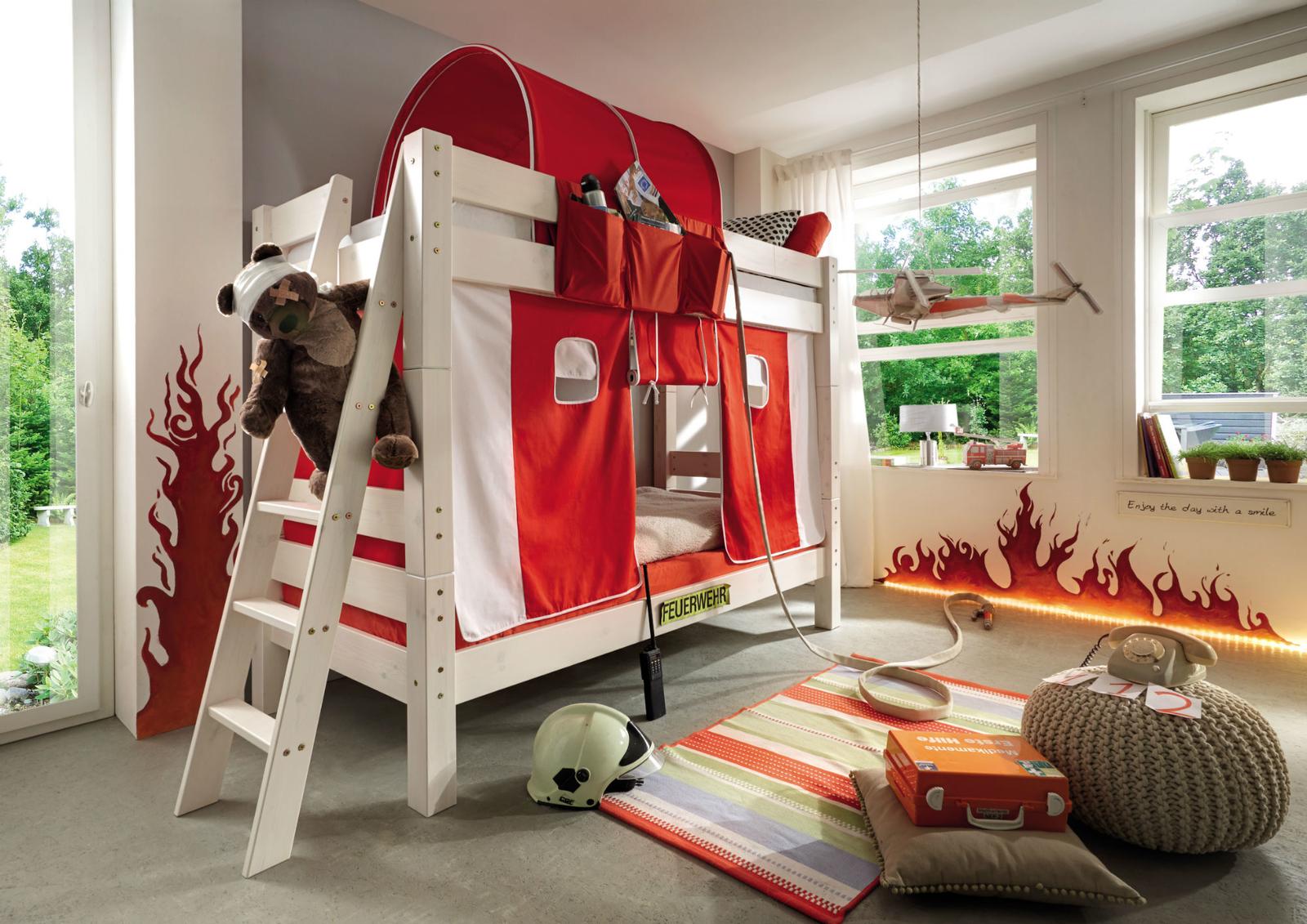 Etagenbett Landhausstil : Tobykids etagenbett feuerwehr für kinder von günstig