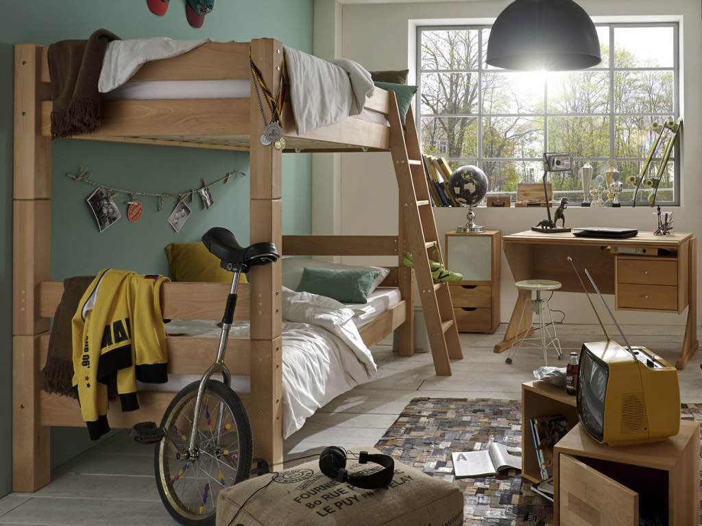 tobykids etagenbett massivholz f r kinder von tobykids. Black Bedroom Furniture Sets. Home Design Ideas