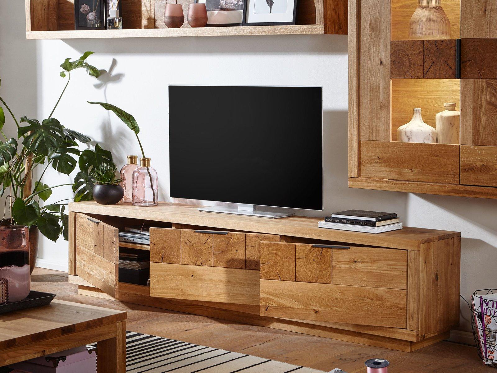TV Element III Hulsig Wildeiche Massiv, Bild 2