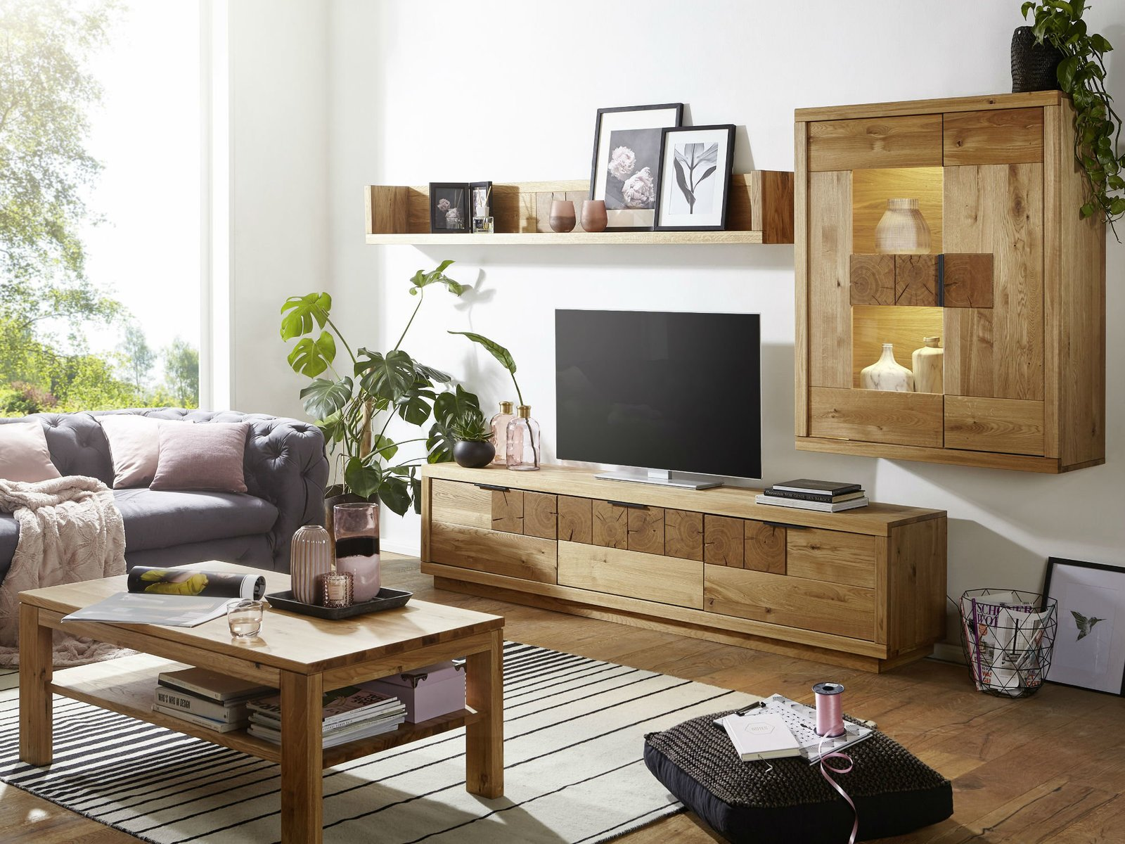 TV Element III Hulsig Wildeiche Massiv, Bild 3
