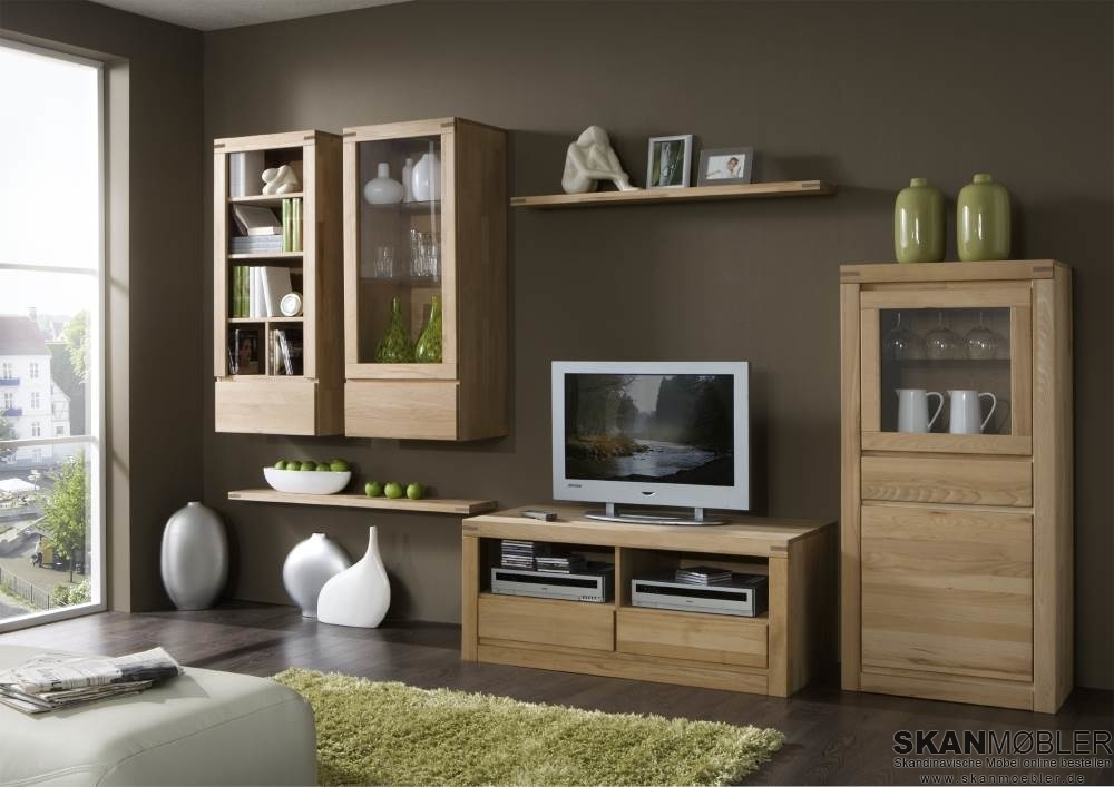 TV-Kommode Fernsehschrank Delft Massivholz, Bild 2