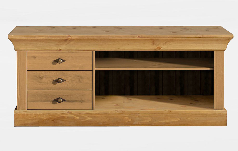 tv lowboard schrank bergen massivholz von jumek g nstig bestellen skanm bler. Black Bedroom Furniture Sets. Home Design Ideas