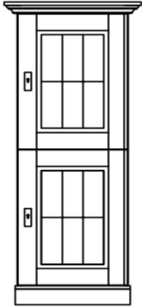 Vitrine mit 2 Holztüren Landhaus Fjord, Bild 4