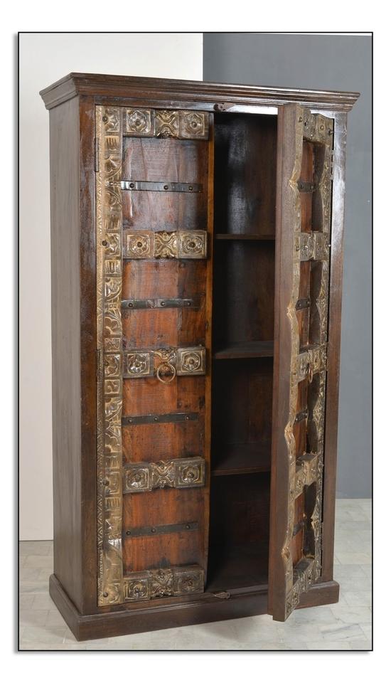 Almirah Schrank aus recyceltem Holz, 2-türig