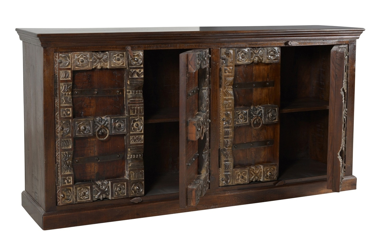 Almirah Sideboard aus recyceltem Holz, 4-türig