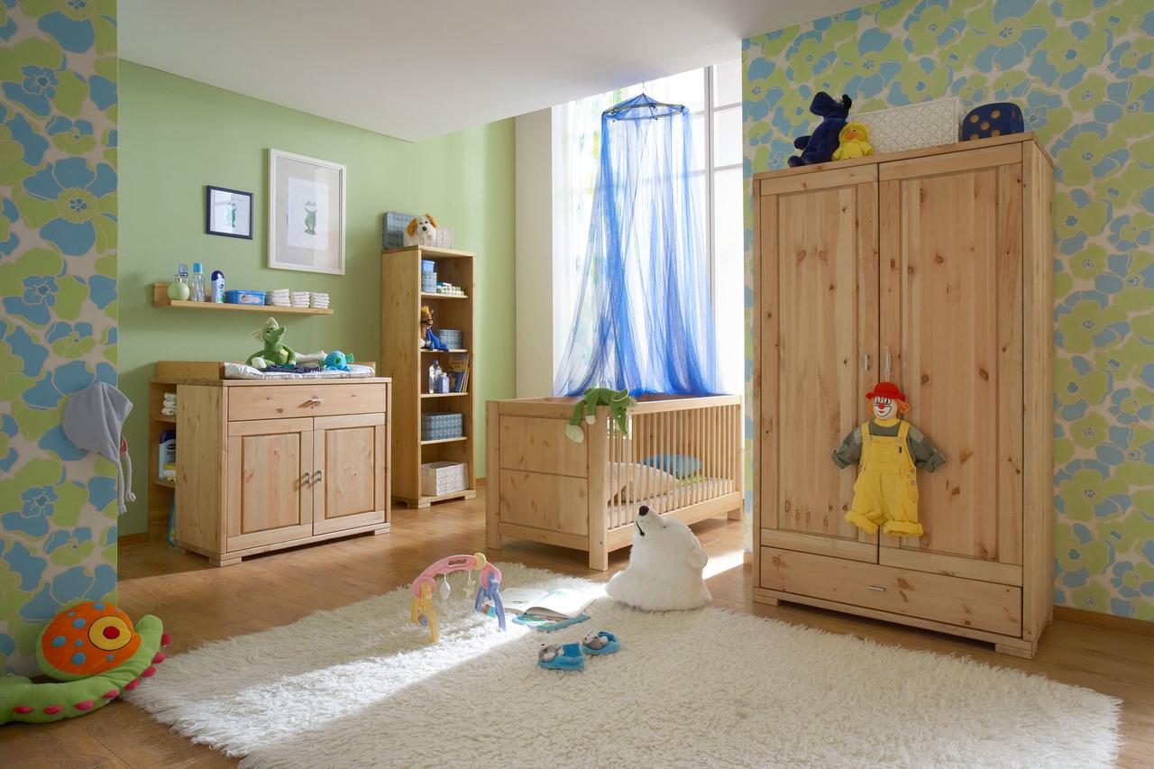 kleiderschrank f r kinderzimmer babyzimmer guldborg von pinus g nstig bestellen. Black Bedroom Furniture Sets. Home Design Ideas