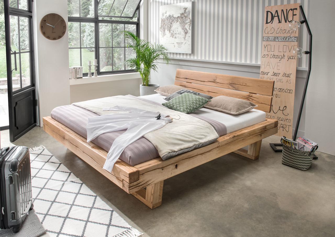 Balkenbett Doppelbett Massivholz Bold