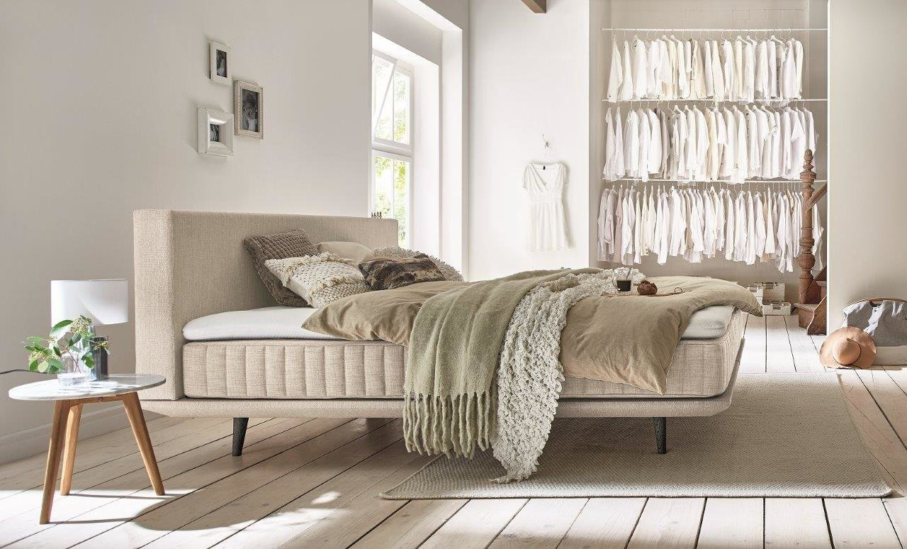 Minimum Boxspringbett Ito Khaki