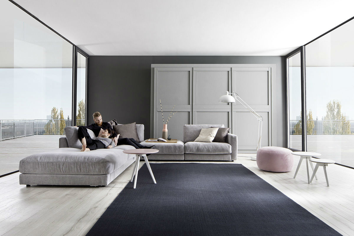 Couchgarnitur Jago Roxbury grey