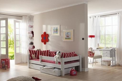 Einzelbett Kinderbett mit Rausfallschutz Moby