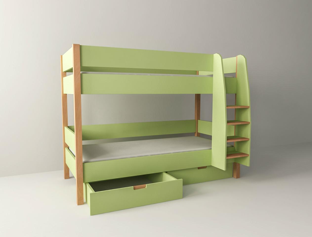 Etagenbett mit Bettkasten für Kinder und Jugendliche Colorland