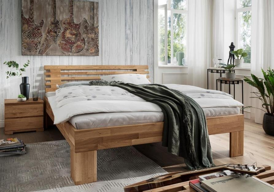 Bett Astoria VI aus Wildeiche