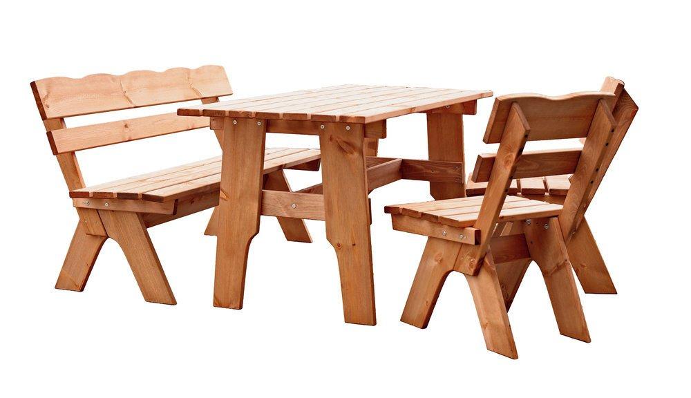 Garten Tischgruppe Massivholz SCHWARZWALD