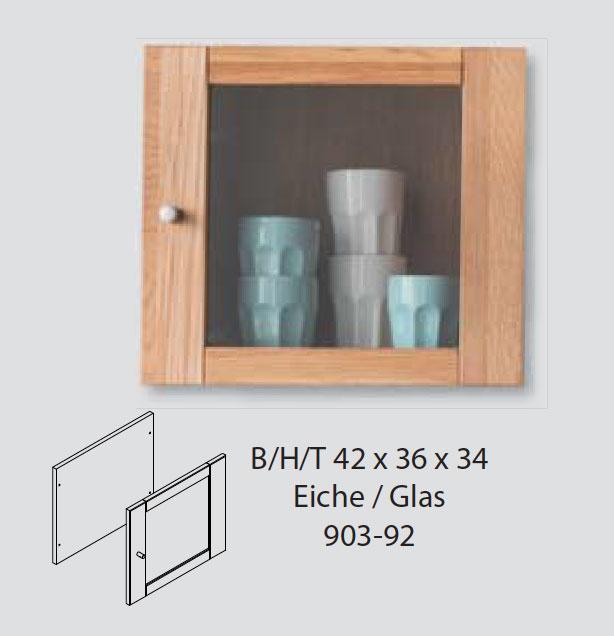 Glastür Element Front für Würfelregal DIRG