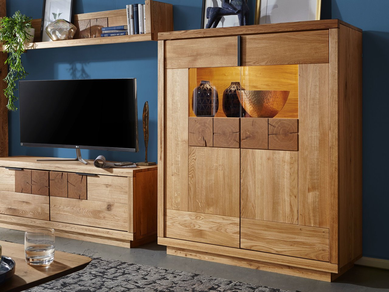 Highboard I Hulsig Massive Wildeiche