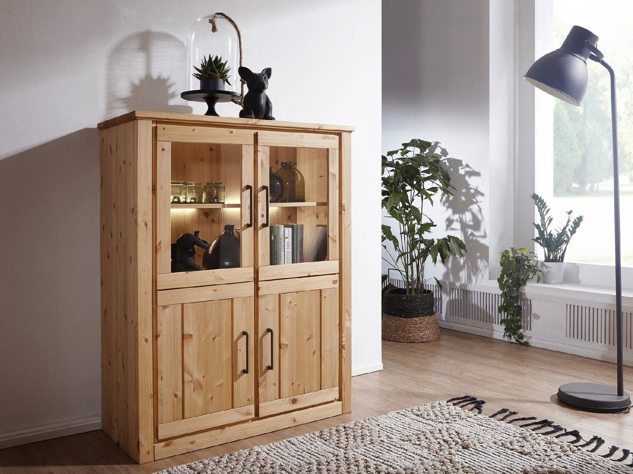 Highboard I Molde Landhausstil Massive Kiefer