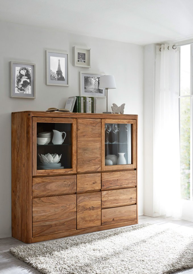 Highboard II New York Sheesham Massivholz