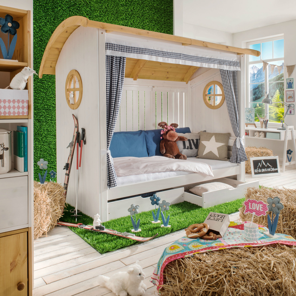 InfansKids Kinderbett Alpenhütte