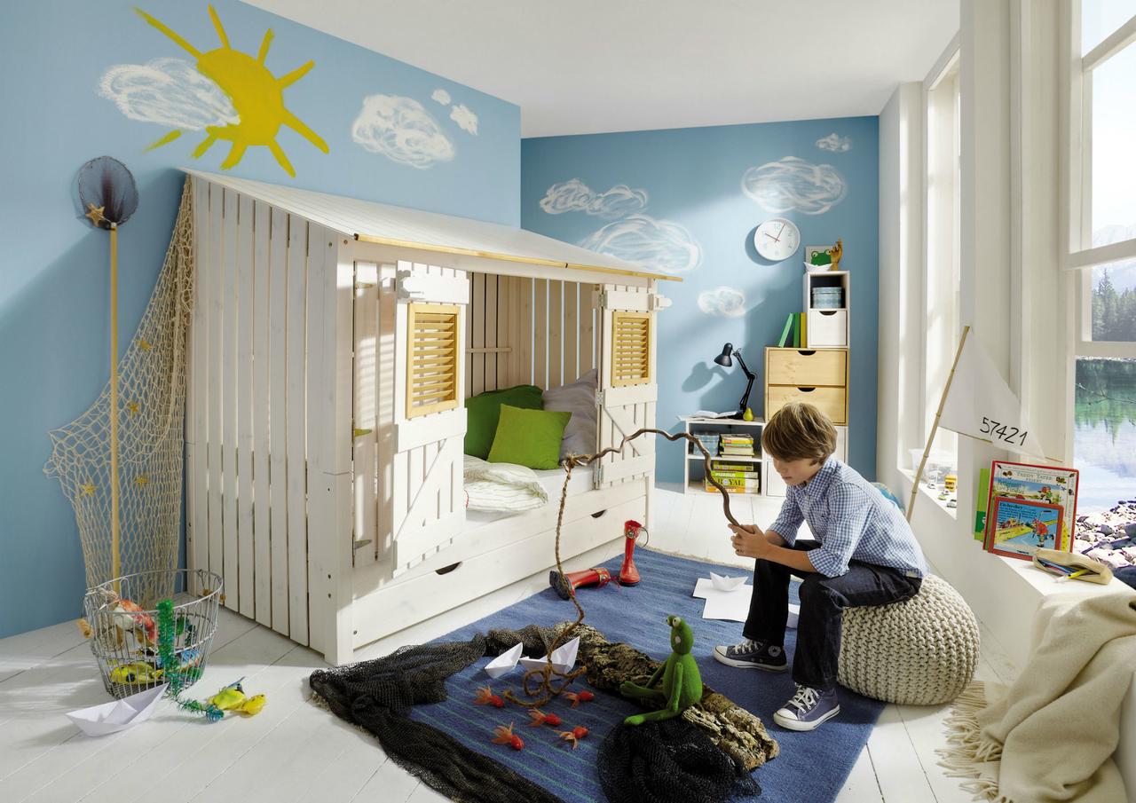 INFANSKIDS Kinderbett Beach-Hütte mit Gästebett Auszug