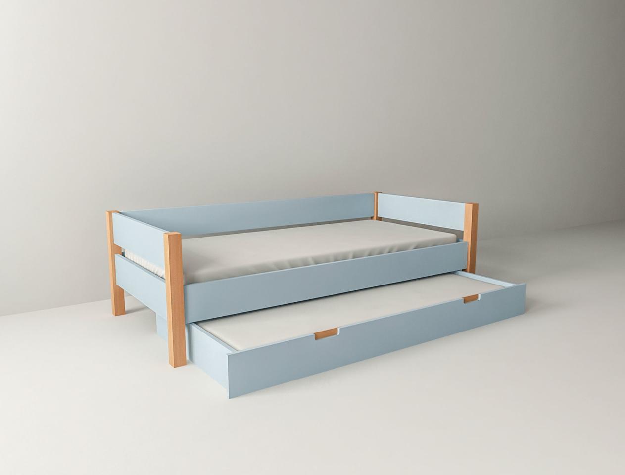 Kinderbett Jugenbett Colorland mit ausziehbarer Gästebett Schublade
