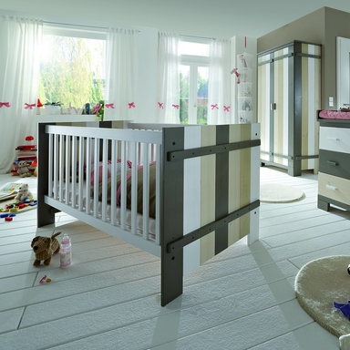 Kinderzimmer Babybett Merlin multicolor