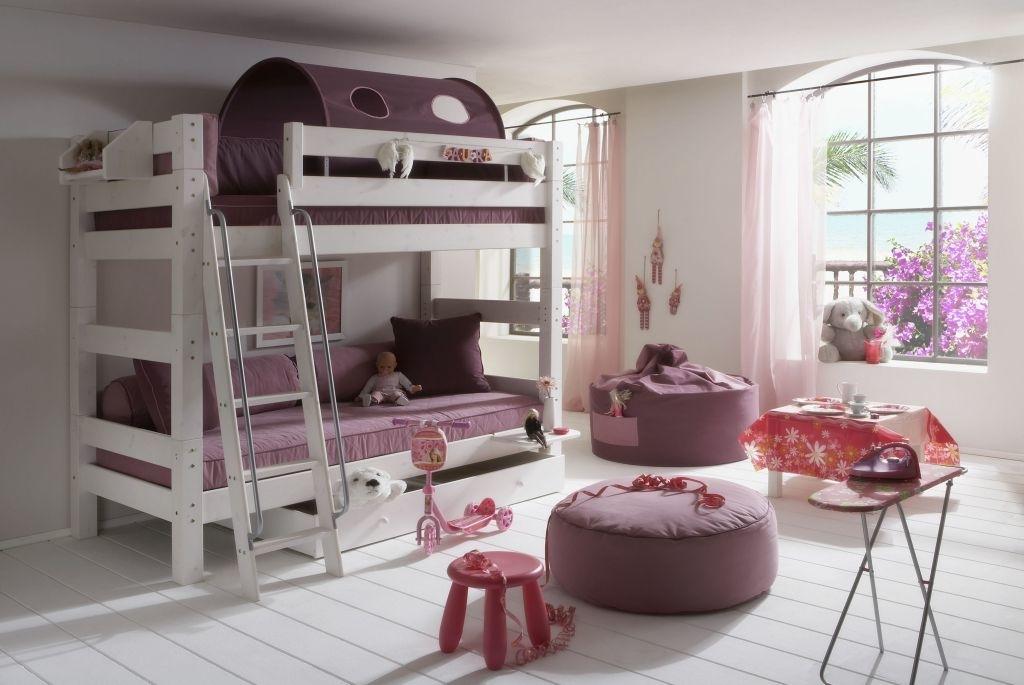 Massivholz Doppelbett Blütenzauber - Etagenbett von Moby