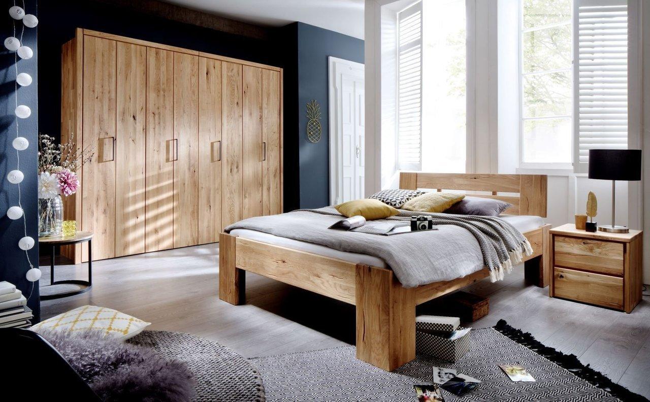 Schlafzimmer Daina Wildeiche Massivholz