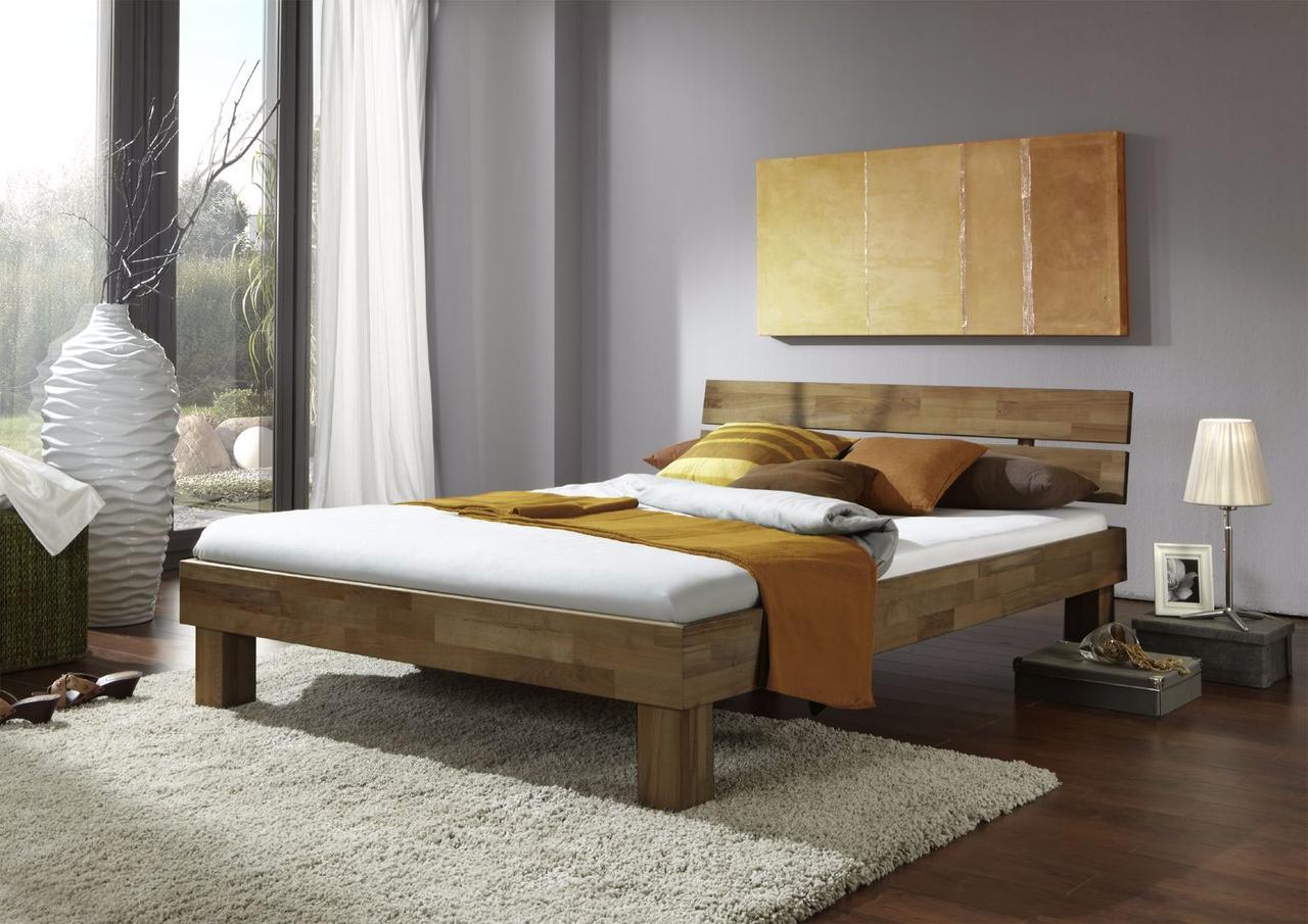 Schlafzimmer Futonbett Jenny Wildeiche massiv