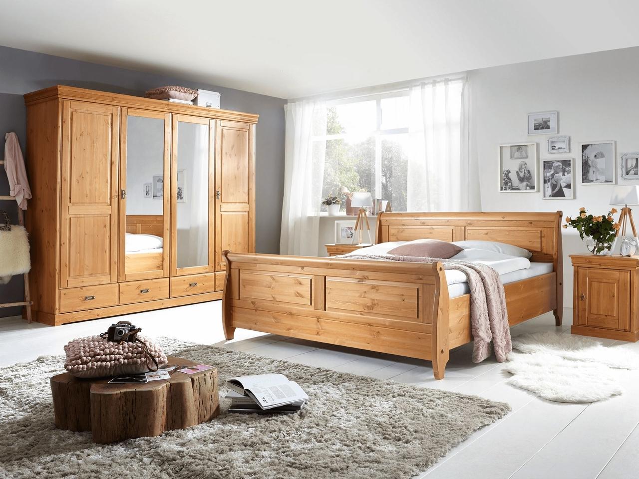 Schlafzimmer Mette Komplettset Landhausstil Kiefer massiv