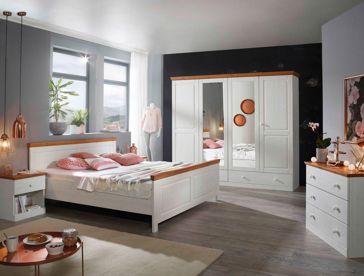 Schlafzimmer Waterkant Kiefer massiv weiß