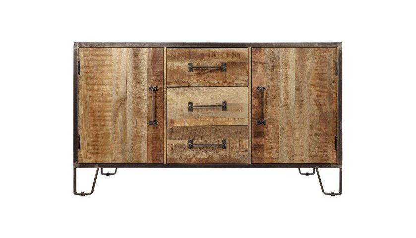 Sideboard Hayward aus Mangoholz und Eisen