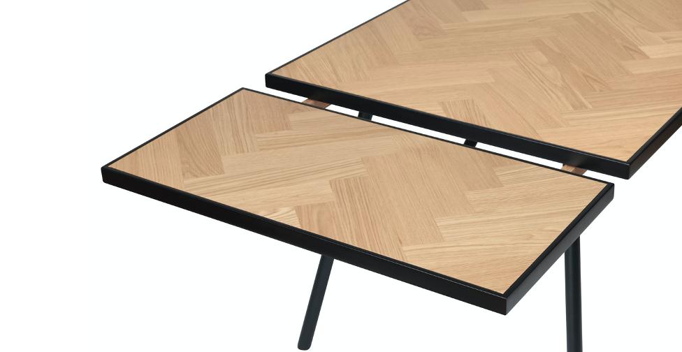 Ansteckplatte für Esstisch Calvi