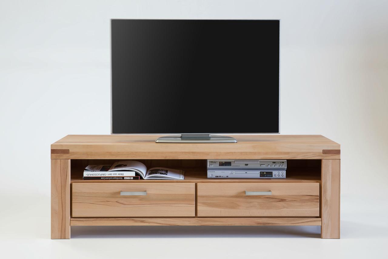 TV Schrank Massivholz Kira 155cm mit Schubladen