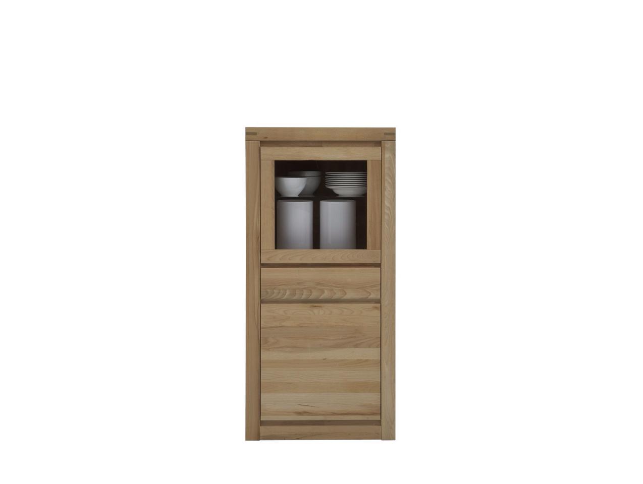 Massivholz Vitrine Delft 1-türig klein