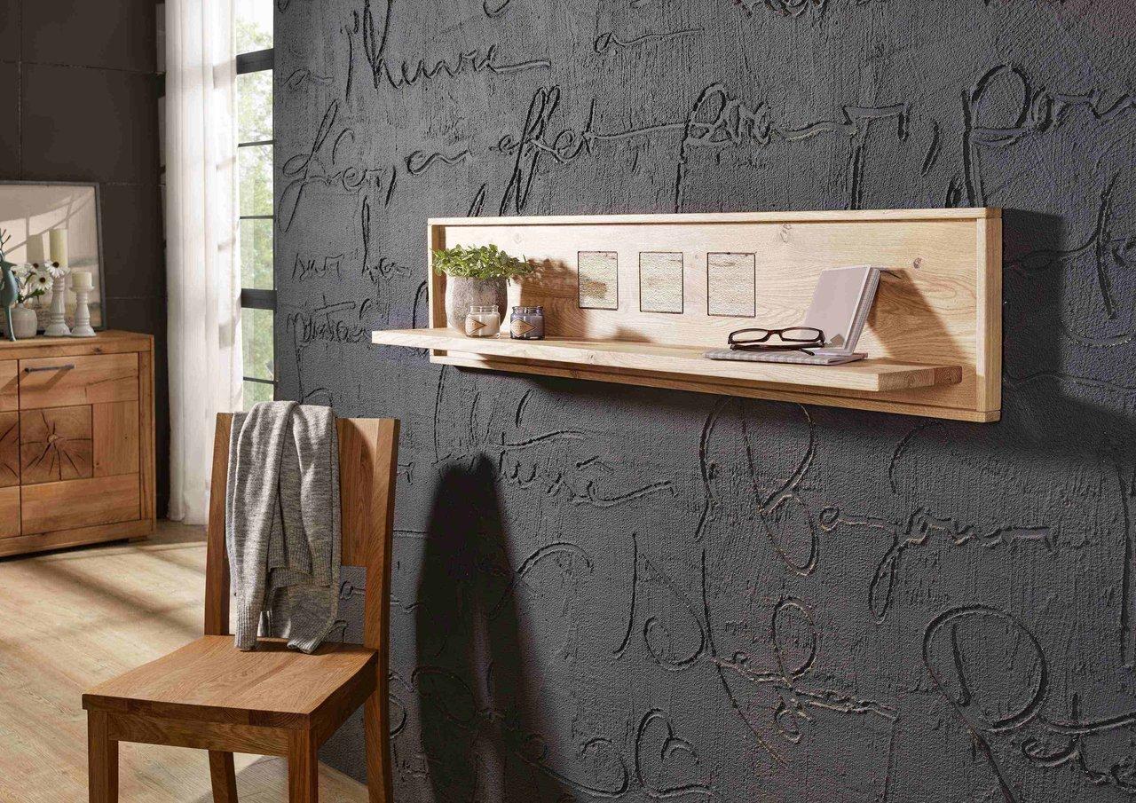Wandboard Lund aus massiver Wildeiche
