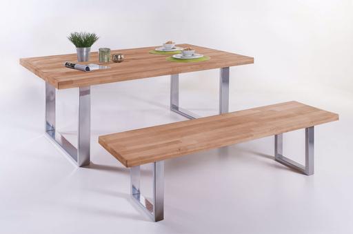 Diese Massivholz Bank Von Elfo Möbel Aus Schön Gemaserter Kernbuche Oder  Wildeiche Ist Eine Tolle Sitzgelegenheit Für Ihre Küche Oder Ihr Esszimmer.