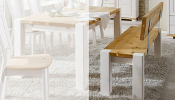 Holzbank Esszimmer Mit Lehne Guldborg Von Pinus Gunstig Bestellen