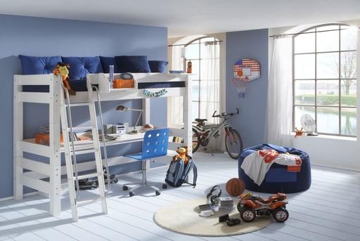 Etagenbett Teenager : Kinderzimmer fresh ´n cool hochbett aus massivholz von dolphin