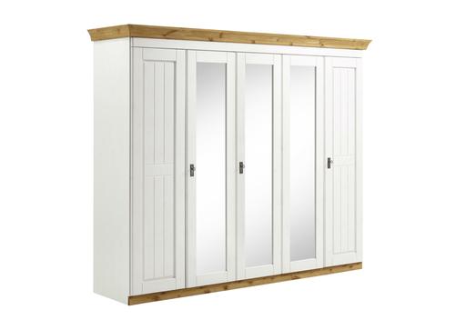 Kleiderschrank Landhausstil Weiß 5-Türig Harri Von Harri Günstig