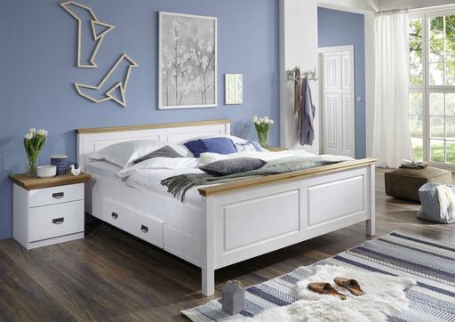 Schlafzimmer Landhausstil weiß gelaugt Komplettset von Harri günstig ...