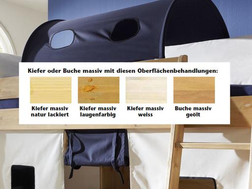 Etagenbett Kiefer Oder Buche : Kinder etagenbett mit matratzen sitzbänken buche hochbett