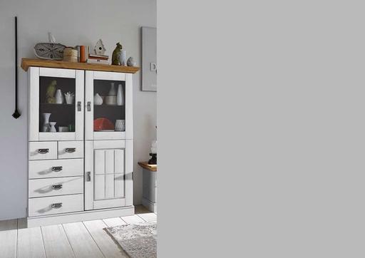 Wohnzimmer Landhaus TV Kombination Fjord weiß gelaugt geölt von ...