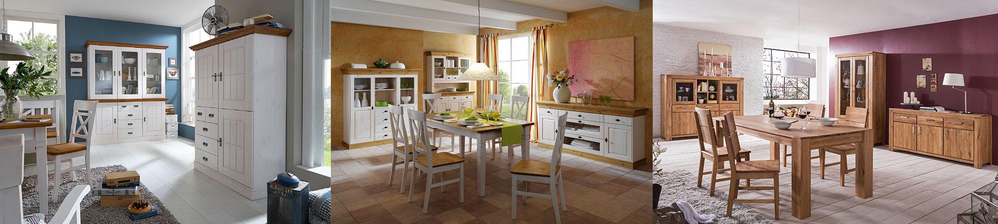 Esszimmer Möbel skandinavisch aus Massivholz