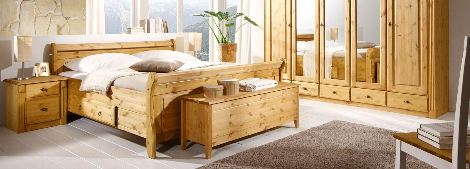 Schlafzimmer Landhausstil Eva & Dora aus Massivholz, Bild 2