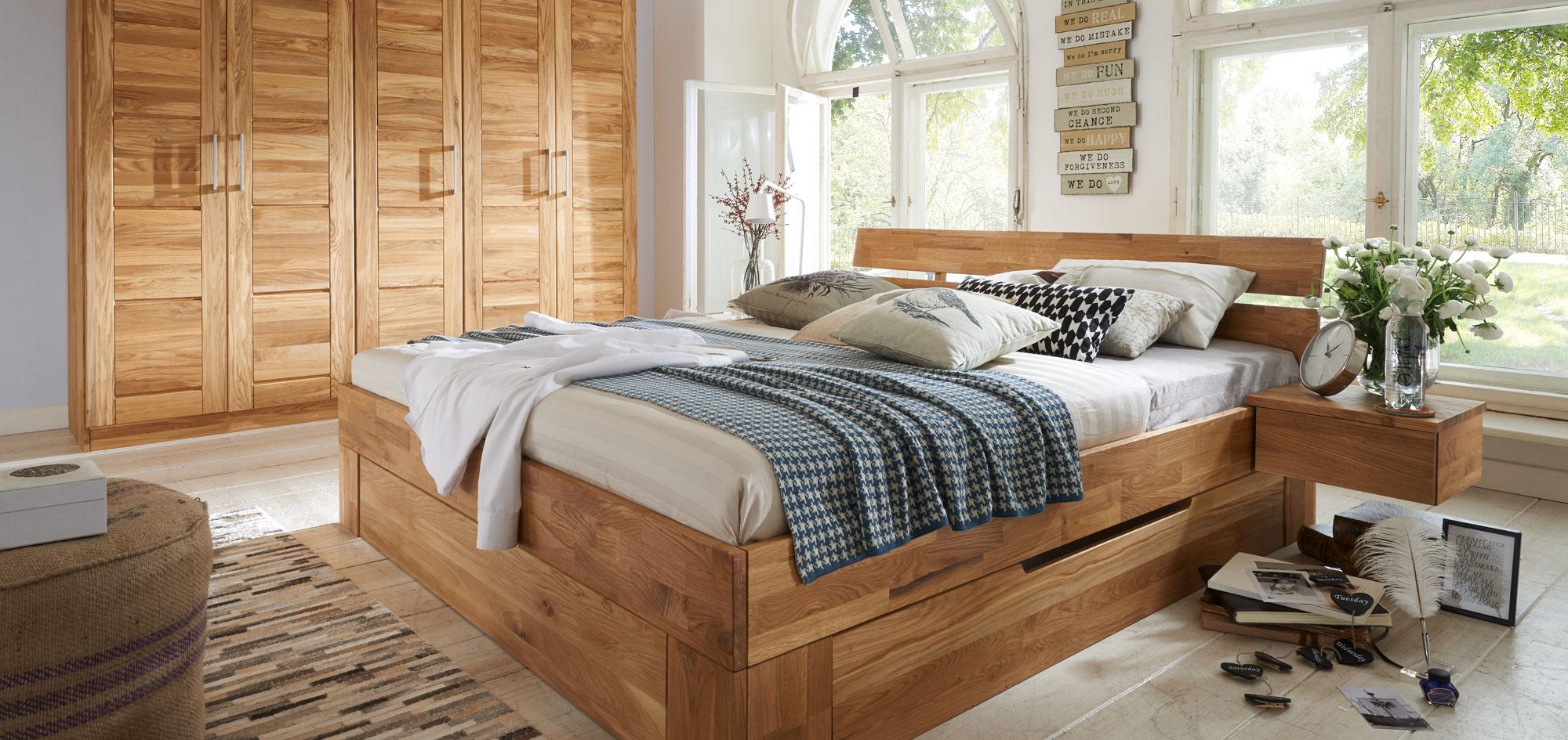 Massivholz Schlafzimmer Modern Zen, Bild 1