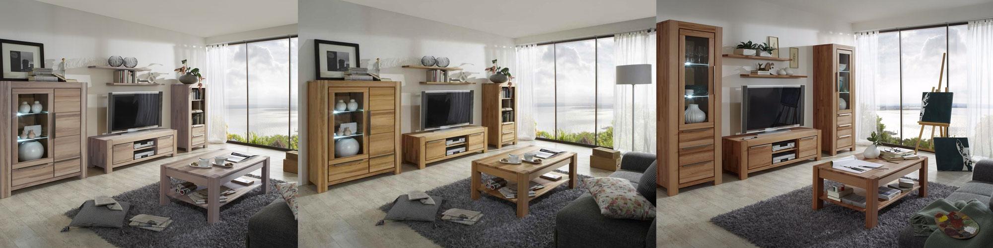 Massivholz Wohnzimmer Nena von Elfo
