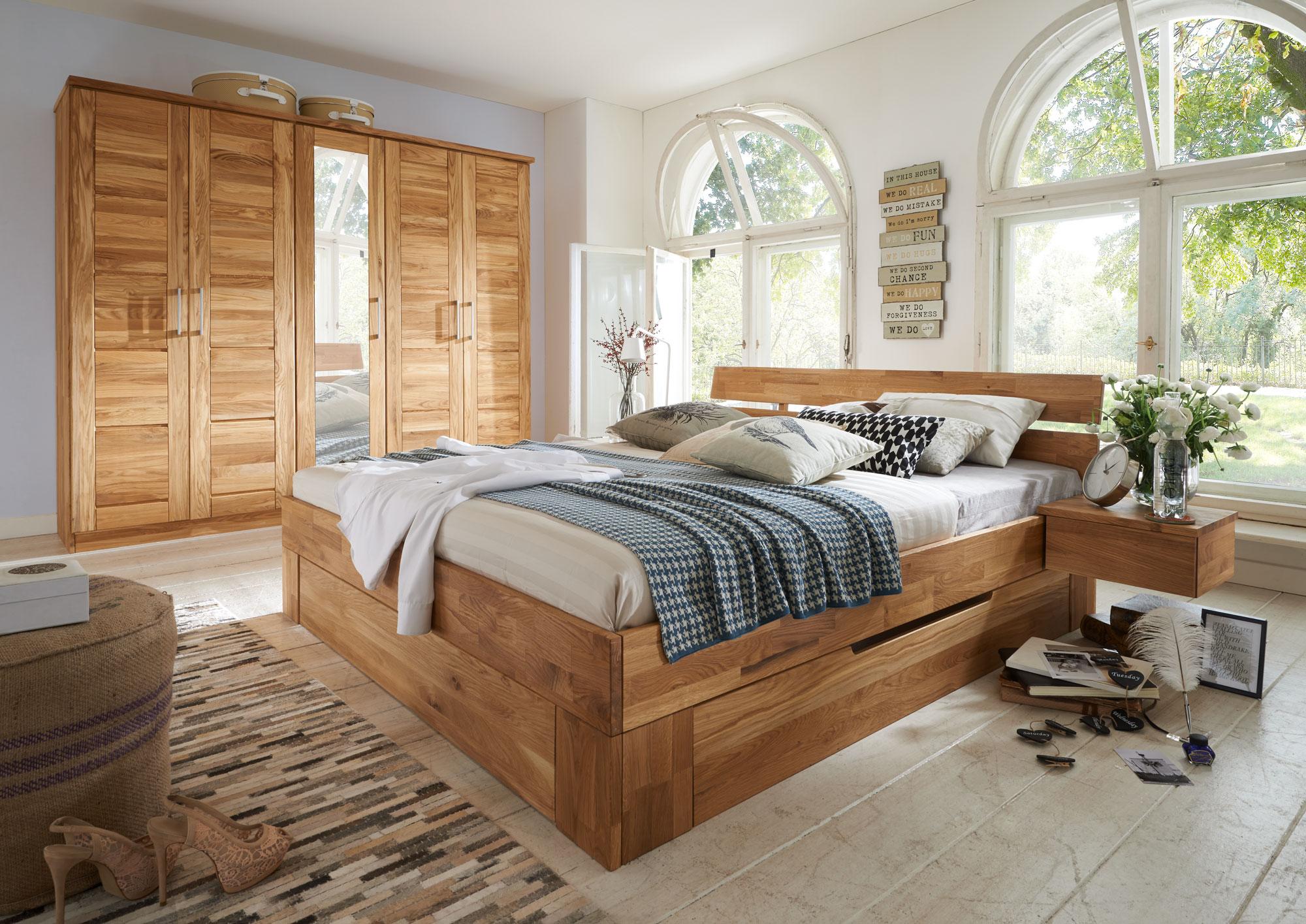 Schlafzimmer Wildeiche Massiv NECST, Bild 1