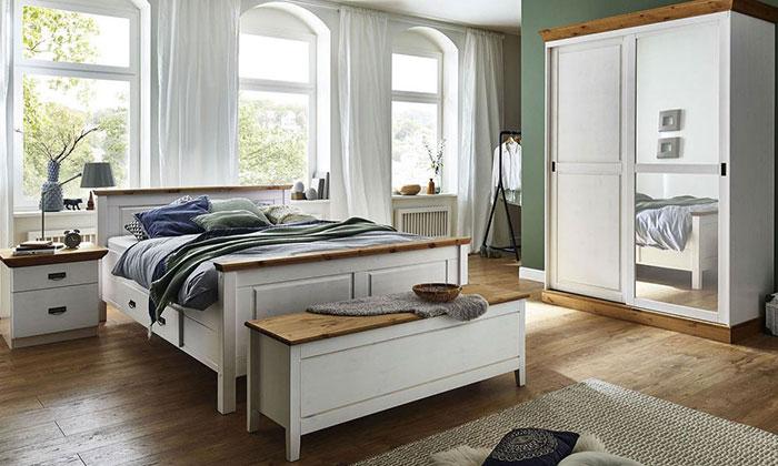 Schlafzimmer Bergen Kiefer Massiv weiß